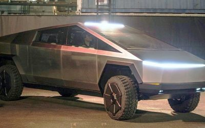 Telsa introduces Cybertruck, due out late 2021